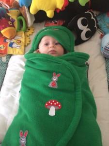Maxi cosy cape gemaakt door Minke