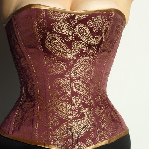 Bordeaux corset vooraanzicht