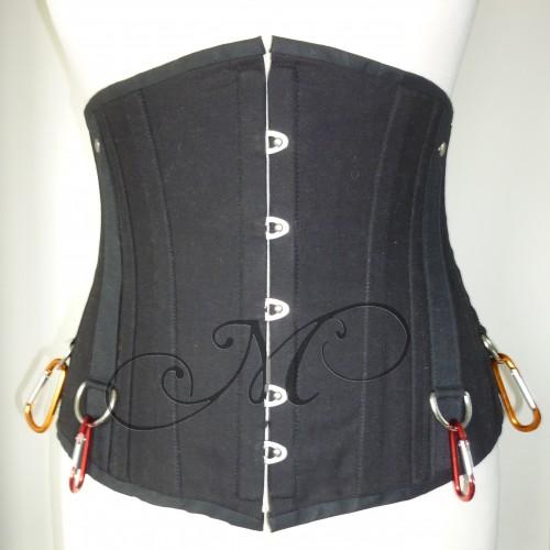 Zwart canvas met musketon voor bew wm