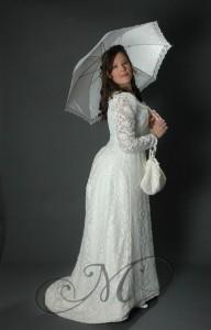Witte belle epoque jurk