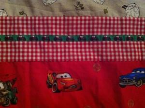"""Kinder dekbedovertrek """"Cars""""gemaakt door Mariette"""